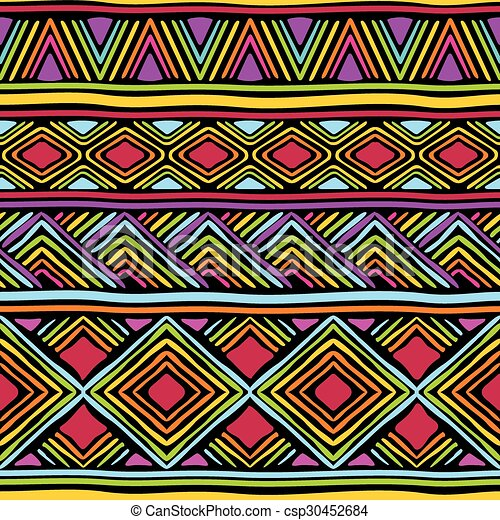 African line pattern Vector seamless pattern with african geometric Gorgeous African Patterns