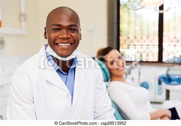 african male dentist - csp28513952