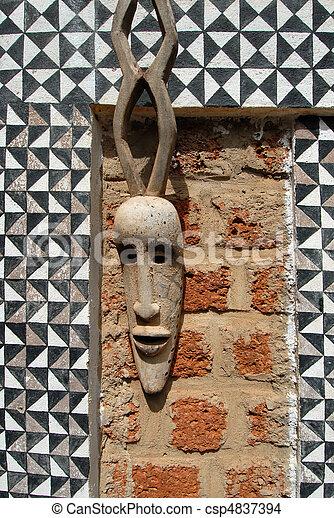 African mask - csp4837394