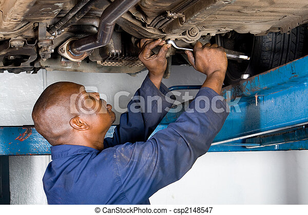 african mechanic at work - csp2148547