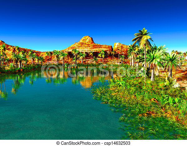 African Oasis Beautiful Natural Landscape
