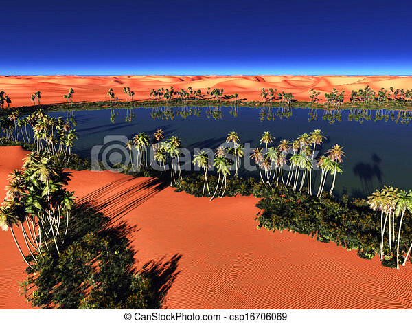 Beautiful Natural Background African Oasis