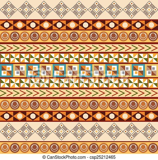 African ornament - seamless pattern - csp25212465