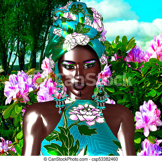 African Queen, Fashion Beauty. - csp53382460