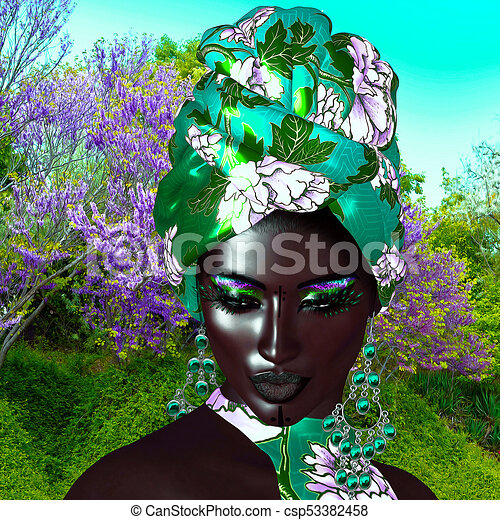African Queen, Fashion Beauty. - csp53382458