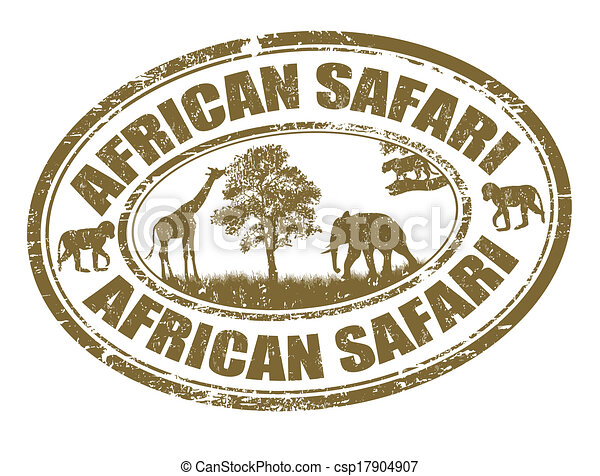 African safari stamp - csp17904907