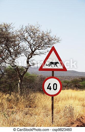 African sign - csp9823460