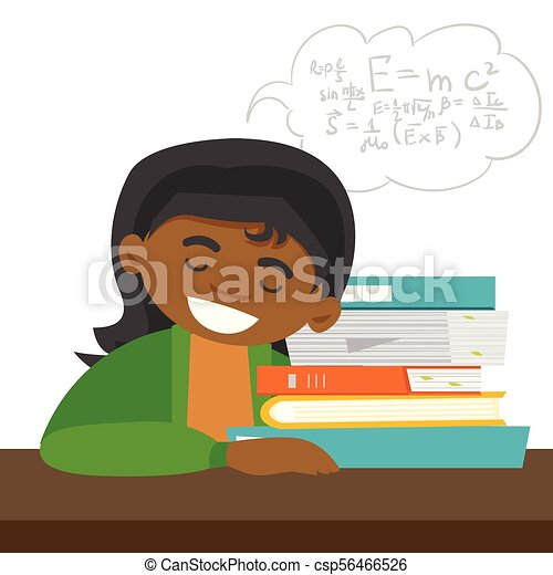 Clipart Picture Of A Male Student Sleeping At A Desk