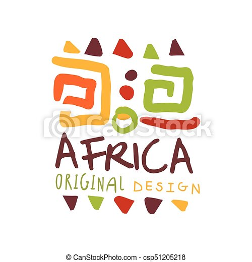 african style logo with ancient tribal symbols abstract doodle with