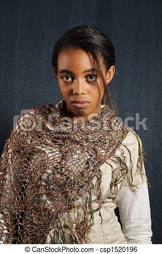 African teen girl - csp1520196