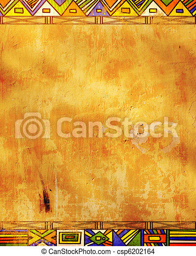 African Traditional Patterns Grunge Background African
