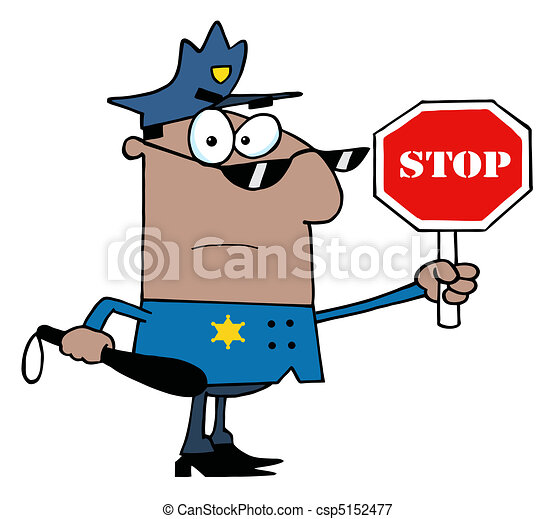 African  Traffic Police Officer - csp5152477