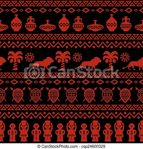 African Tribal Seamless Pattern Ethnic Ornament With Different Classy African Tribal Patterns
