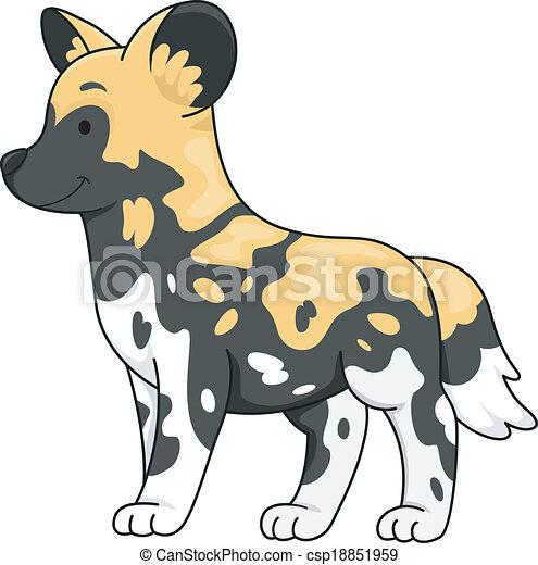 African wild dog csp18851959