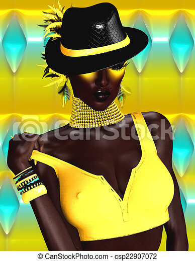 African Woman Fashion Model - csp22907072