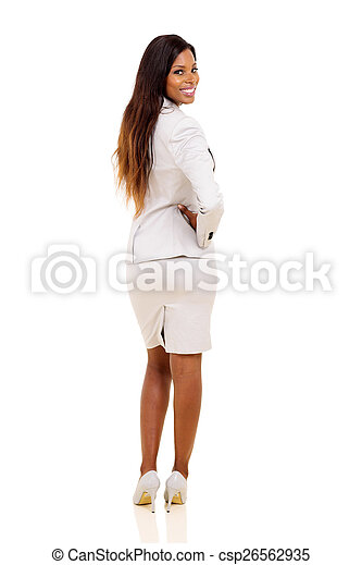african woman looking back - csp26562935