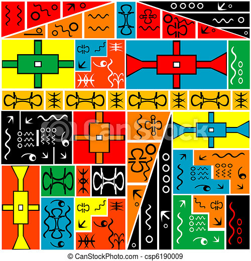 africano, arabescos, experiência colorida, geométrico - csp6190009
