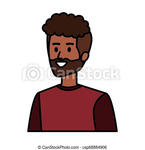 Un joven personaje de avatar africano - csp68884906