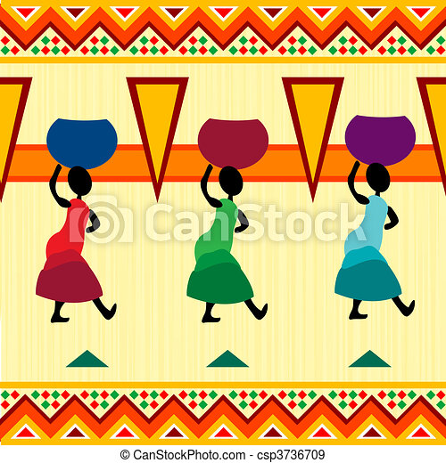 africano, desenho - csp3736709