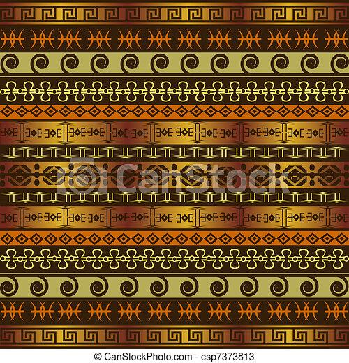 africano, fundo, ornamentos, étnico - csp7373813