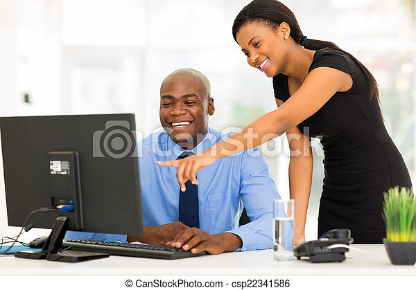 africano, ufficio, lavorativo, businesspeople - csp22341586