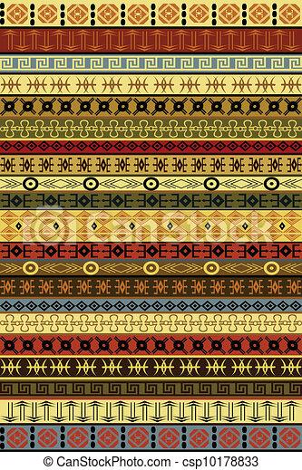 afrikaan, ethnische , motieven, tapijt - csp10178833