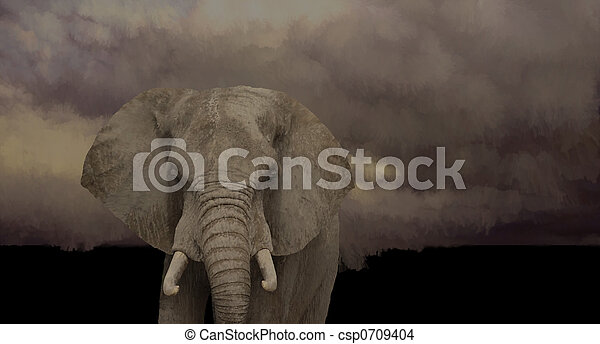 afrikaanse olifant - csp0709404