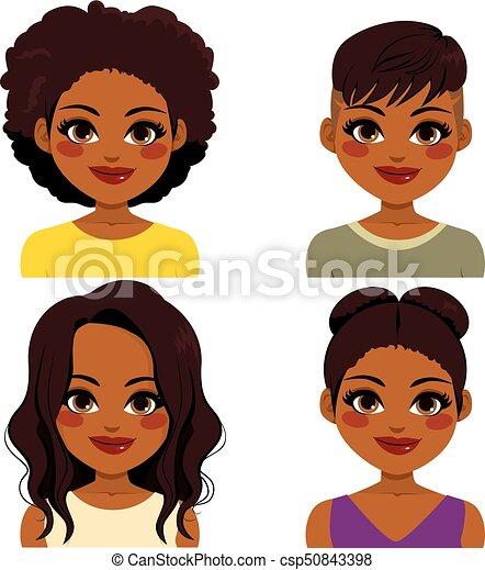 afrikanischer amerikaner, frisur - csp50843398