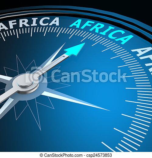 afrique, mot, compas - csp24573853