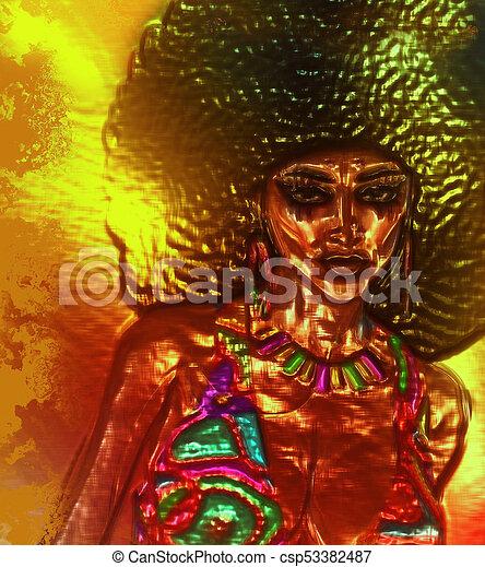 Afro Art Woman - csp53382487
