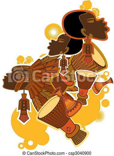 afrykanin, ludzie - csp3040900