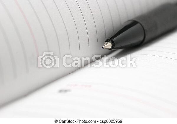 afsluiten, pen, op, jotter - csp6025959