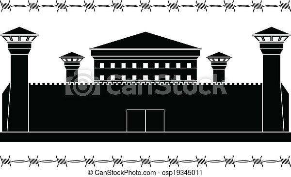 aftekenmal, gevangenis - csp19345011