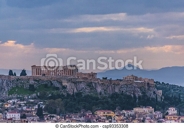 Afternoon Athens Aerial View Cityscape - csp93353308