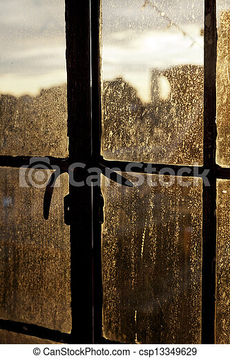 Afternoon Sun Back Lighting Stained Window - csp13349629