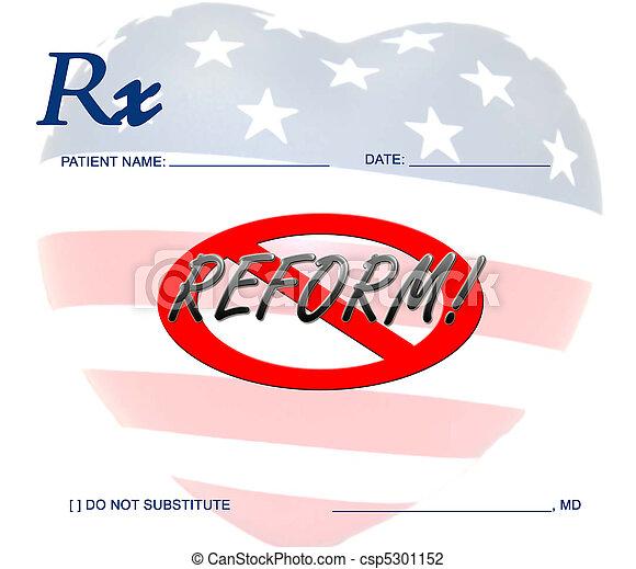Against Health Care Reform - csp5301152