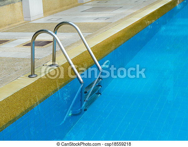 agarramento, barras, escada, piscina, natação - csp18559218