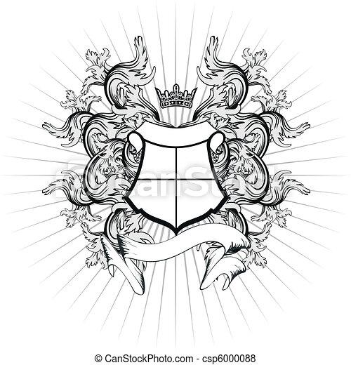 agasalho, heraldic, braços, copyspace10 - csp6000088