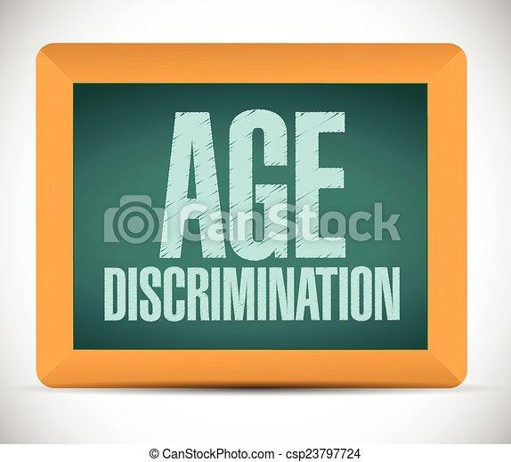 age discrimination board sign  - csp23797724