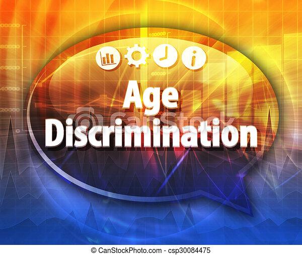 Age discrimination Business term speech bubble illustration - csp30084475