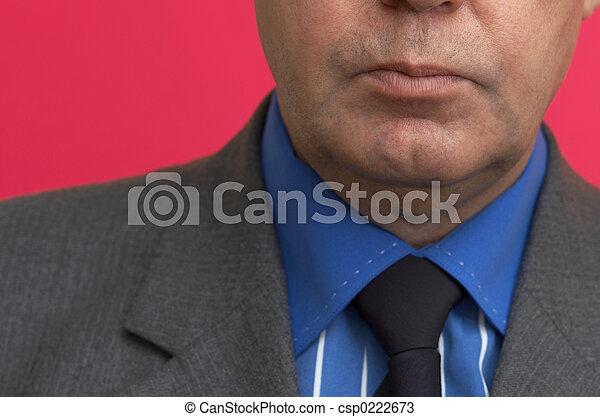 age moyen, homme affaires - csp0222673