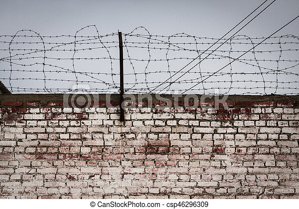 Amazing Aged And Weathered Brickwall With A Barbed Wire Aged Brick Wall And Wiring Digital Resources Indicompassionincorg