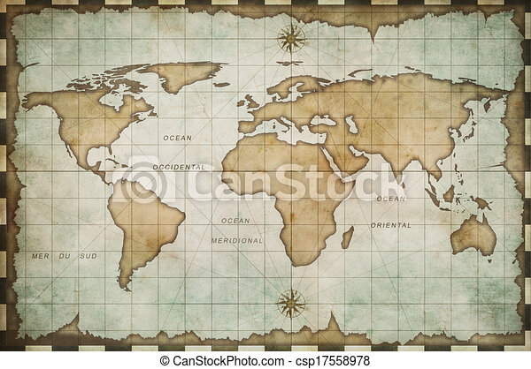 Aged old world map aged old world map csp17558978 gumiabroncs Images