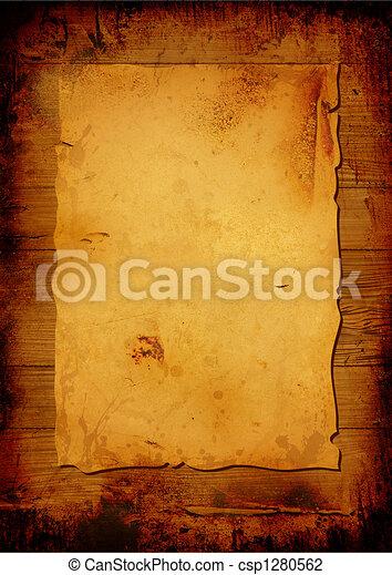 Aged parchment - csp1280562