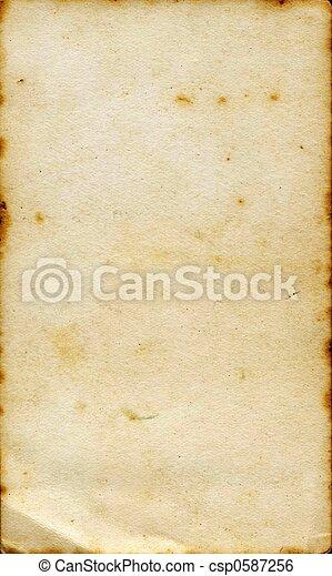 Aged sepia paper  - csp0587256