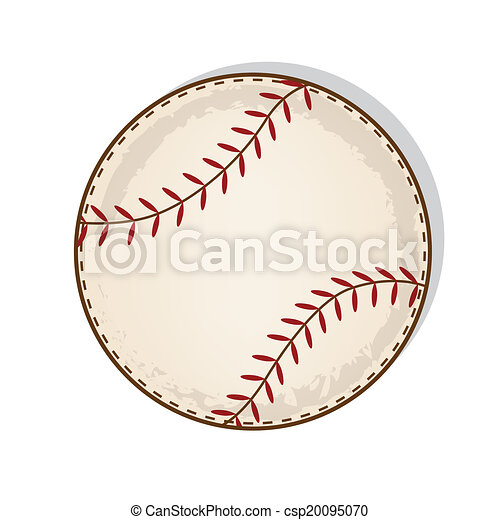 Aged Vintage Baseball Vector On A Transparent Background
