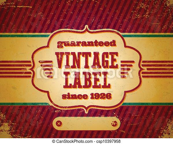 Aged vintage label - csp10397958