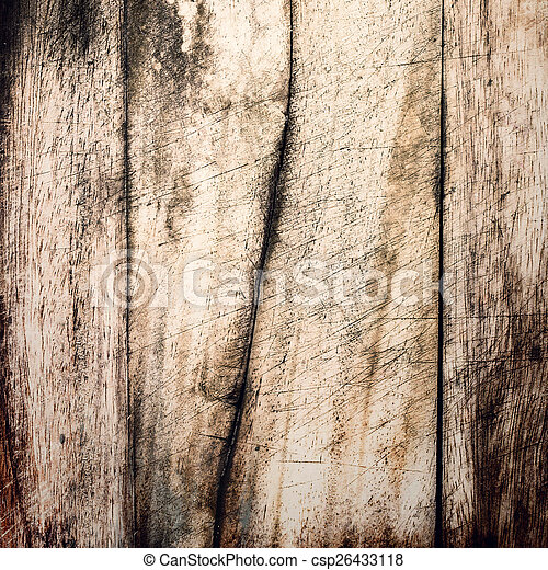 Aged wooden background texture, vintage natural oak background - csp26433118