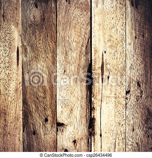 Aged wooden background texture, vintage natural oak background w - csp26434496