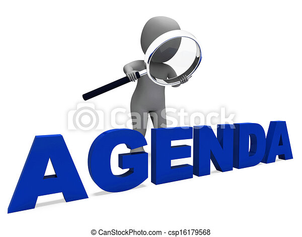Agenda Character Means Schedule Program Or Outline Agenda  Stock